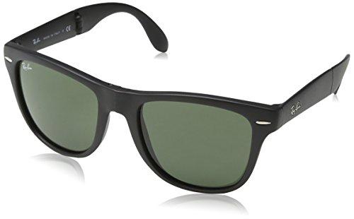 Ray-Ban per donna RB4105 601 (FOLDING WAYFARER) - 50 mm (BLACK/crystal green)