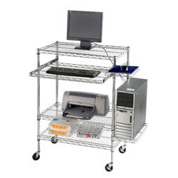 Buy Low Price Comfortable RELIUS SOLUTIONS Mobile Wire Computer Workstations – 18x30x32″ – Chrome (B002TEJS26)