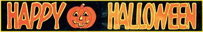 Rubies Happy Halloween Banner 72 In. Plastic Black w/ Orange Letters - 1