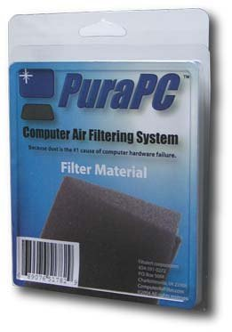 Computer Air Filter - Polyurethane Foam Filter Protects Hard Drives From Dust - By PuraPC (Computer Cleaner Foam compare prices)