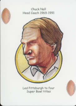Chuck Noll - Oddball Pittsburgh Steelers Playing Card