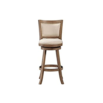 Boraam 76529 Melrose Bar Height Stool, 29-Inch, Driftwood