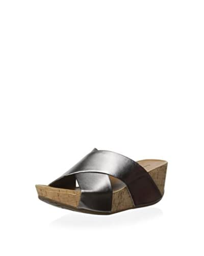 Chocolat Blu Women's Melissa Cork Covered Platform Wedge  [Gunmetal]