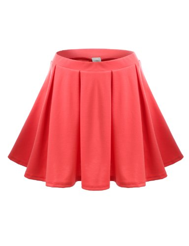 J.Tomson Womens Skater Skirt Coral Small