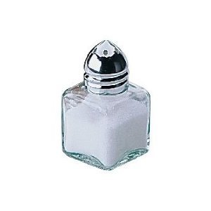 Mini Salt + Pepper Shakers - Pack of 2 Glass Salt+ Pepper Pot - Room Service by UK Sports Trophies