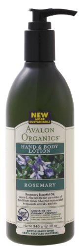 AVALON ORGANICS アバロンオーガニクス hand - 0 - body lotion-Rosemary 340 g