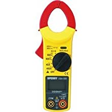 Sperry Instruments DSA500A 5-Function 9-Range 400-Ampere Digital Snap-Around Clamp Meter w/Data Hold and Auto-Off capability, 1/Ea