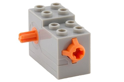 Lego Parts: Wind-Up Motor 2 x 4 x 2 1/3 with Orange Release Button (LBGray) - 1