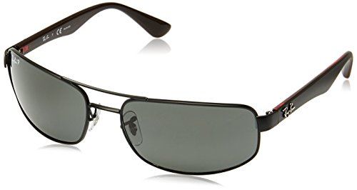 Ray-Ban-Mens-0RB3445-Polarized-Rectangular-Sunglasses-Matte-Gunmetal