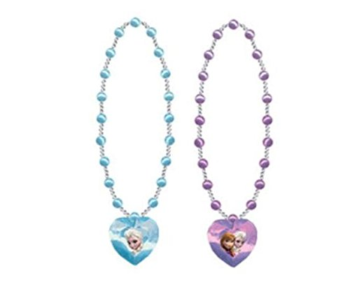 "Disney Frozen 16"" Pearl Necklace with 1.5"" 3D Gem Charm Necklace (1 out of 2 assorted) - 1"