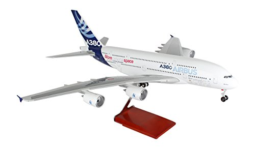 Daron Skymarks Airbus House Colors A380-800 Airplane Model with Wood Stand & Gear (1/100 Scale) (Airbus A380 Model compare prices)