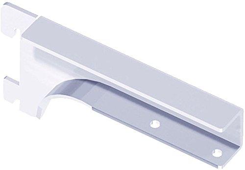 Element System Holzbodenträger Regalbodenträger, 2 Stück, für Holzfachböden 19-22 mm, Wandschiene, Regalsystem, weiß, 10504-00007