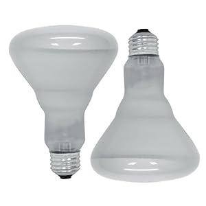 GE Lighting 18011 65-Watt Soft White Reflector Flood BR30 Light Bulb, 2-Pack