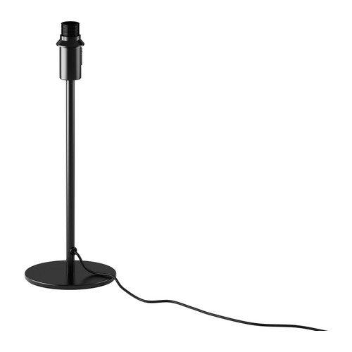 "Ikea Table Lamp Base Rodd, Black 14"""
