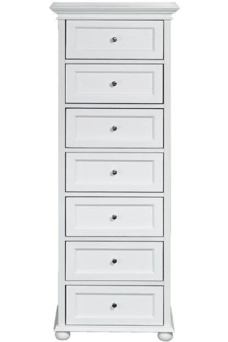 Find Bargain Hampton Bay Seven drawer Chest, 7-DRAWER, WHITE
