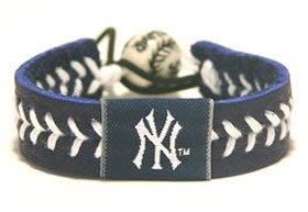 New York Yankees Team Color Baseball Bracelet