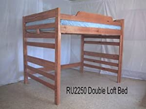 Low Height Full Loft Bunk Bed-Light Sierra Brown