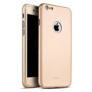 SEDOKA iPAKY 360 Degree All-round Protective Slim Fit Case Cover for Apple iPhone 6 / 6S ( Gold ) With Free Key Ring