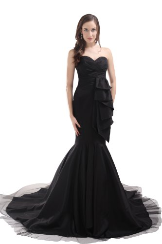 Alternative wedding dresses black gowns for a daring bride for Black mermaid wedding dresses