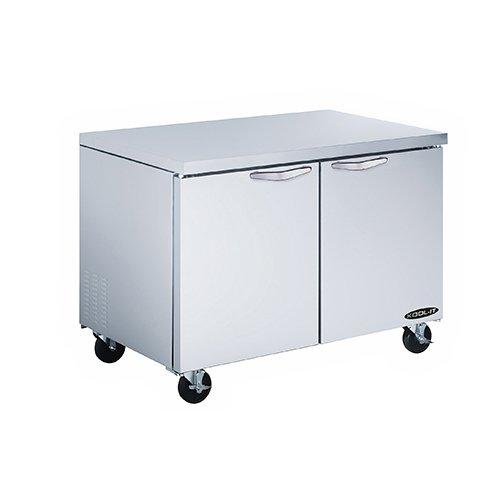 """Kool-It Kucr-48-2 Stainless Steel Undercounter Double Door Refrigerator, 51"""" Width X 36"""" Height X 33-1/2"""" Depth"""