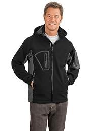 Port Authority J798 Waterproof Soft Shell Jacket - Black/Graphite - XXX-Large