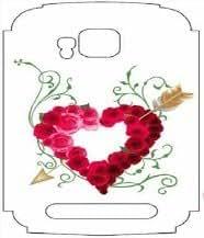 White Background Arrow Heart Mobile Phone Skin for Nokia Lumia 710