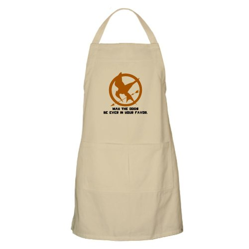 Hunger Games Mockingjay Pin Apron by CafePress - Khaki