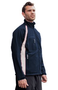 Finden & Hales Mens Team Softshell Jacket - Medium - Navy/White