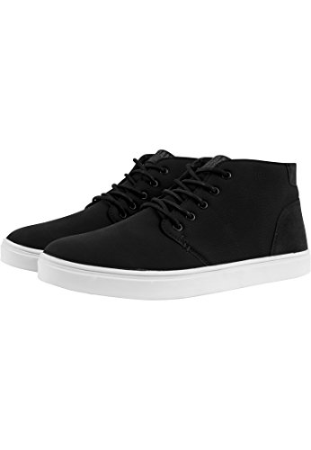 URBAN CLASSICS Scarpe casual uomo donna Hibi Mid Shoe TB1290 (44, Black/White)