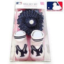 MLB Ny Yankees Girls Gift Set - Gripper Socks / Headband 0-12months - 1