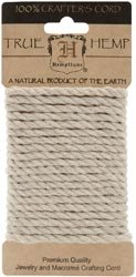 Hemptique Hemp Rope 4mm 9.84 Feet/Pkg Natural; 3 Items/Order
