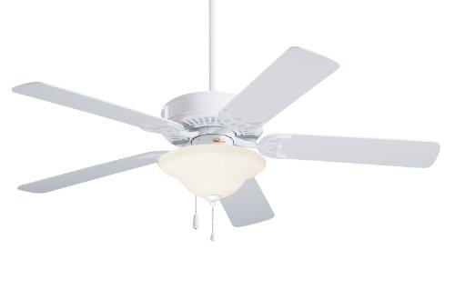 Emerson CF705WW Northwind Indoor Ceiling Fan, 52-Inch Blade Span, Appliance White Finish and Appliance White Bleached Oak Blades