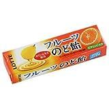 ロッテ フルーツのど飴 11粒×10個
