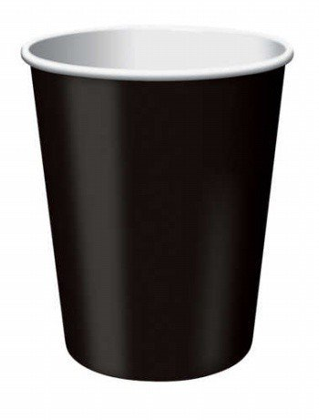 Creative Converting 240 Count Case Touch Of Color Paper Hot/Cold Cups, 9-Ounce, Black Velvet