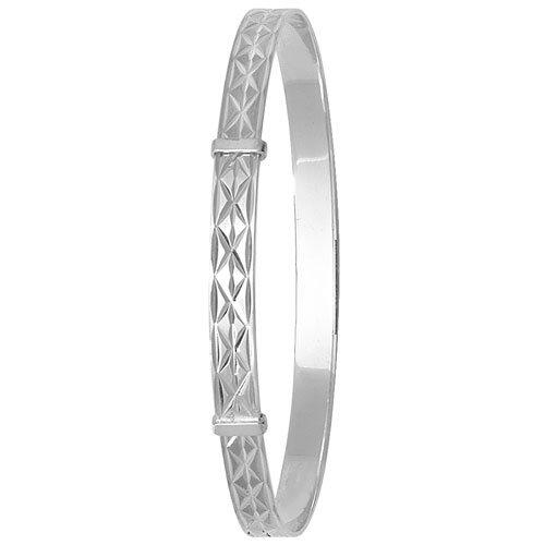 silver ladies expandable bangle