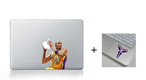 Get 2 Sticker- A Free Wrist Sticker! Kobe Bryant Character Decal Sticker for Macbook Laptop Air Pro Retina 13 Inch Cool