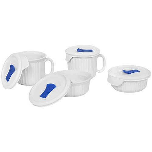 Corningware French White Pop-Ins 8-Piece Round Bake And Serve Set