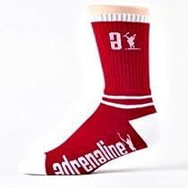 Adrenaline Movement Data Lacrosse Sock (Red)
