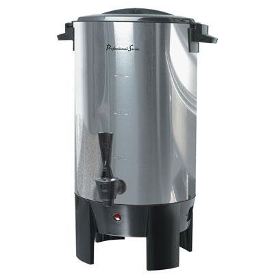 Continental Electric Stainless Steel Single 30-Cup Coffee Wall Urn