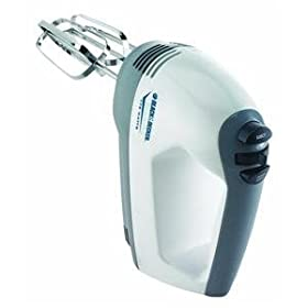 Black & Decker MX150 Power Pro Hand Mixer, White