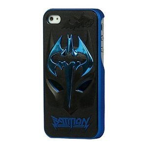 Plating Blue Ghostly Bats Sword Black Mask Hard Case Batman Skin Cover For iPhone 5 5S at Gotham City Store