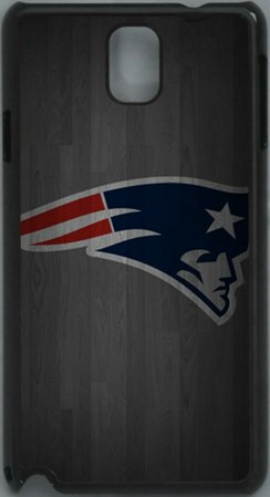 NFL New England Patriots Wood Look PC Hard Shell Black Skin Cover Case for Samsung Galaxy Note 3 N9000 by Qinchao Sports #56