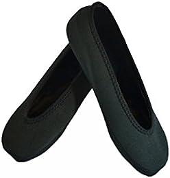 NuFoot Ballet Flats Travel Slipper Black Small