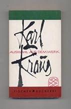 Auswahl aus dem Werk by Karl Kraus