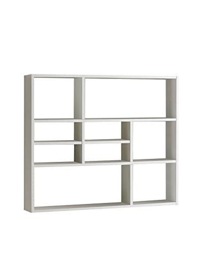 Fashion Home Estantería De Pared Liberty A11 Blanco Artikelgrösse (BxHxT in cm): ca. 90 x 75,5 x 16 ...