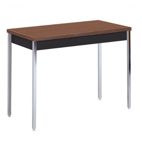 Images for Sandusky Heavy Duty Steel Table (Black With Walnut Top) (24