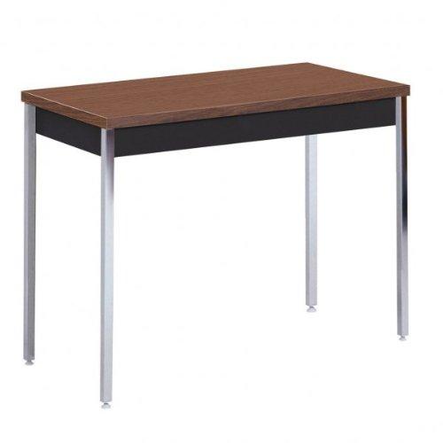 "Sandusky Heavy Duty Steel Table (Black With Walnut Top) (24""-36""H x 40""W x 20""D)"
