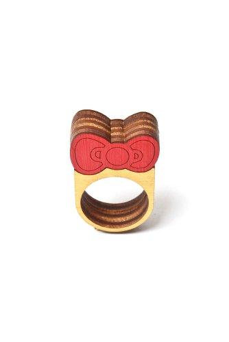 Neivz x Sanrio - women's Mini Stack Bow Ring (Red)