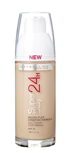 Maybelline SuperStay 24 Hour, Fondotinta, Nude Beige 021, 30 ml