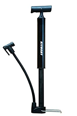 Bike Pump, Kitbest Aluminum Alloy Portable Bike Floor Pump, Mountain, Road, Hybrid & BMX Bike Tire Pump, Floor Bicycle Air Pump Compatible with Presta & Schrader Valve & Sports Ball